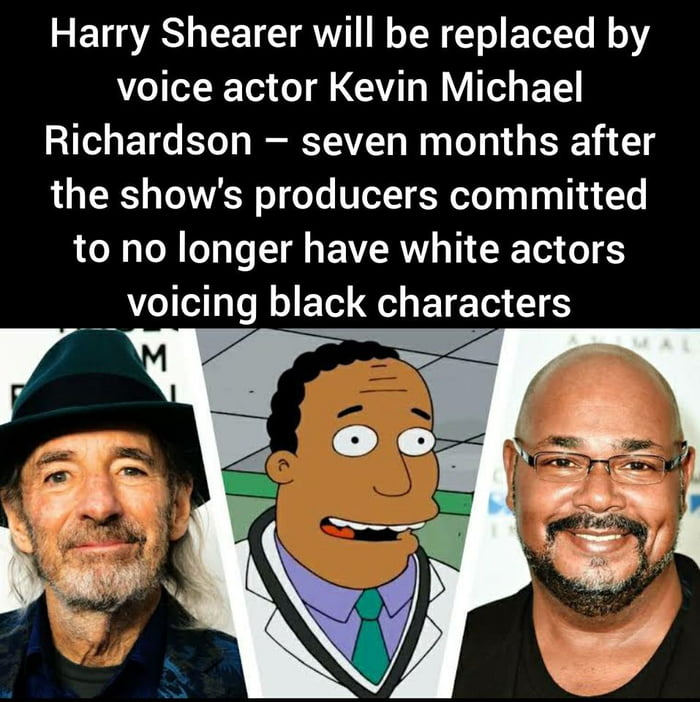 I missed this from afew months ago, imagine losing your job because of the color of your skin. Ruined a great character.