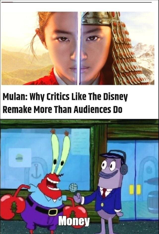 Use us as critics, not them.
