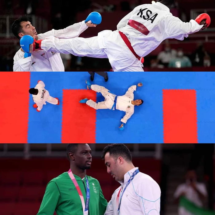 K.O. his opponent, got silver medal because knocking out is against the rules