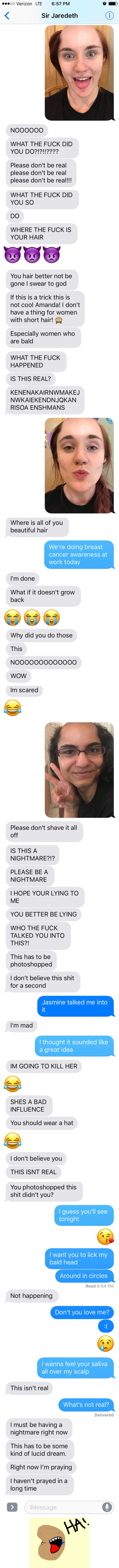 This Girl Pranked Her Boyfriend With A Bald App, Doesn't Count on Response Like This
