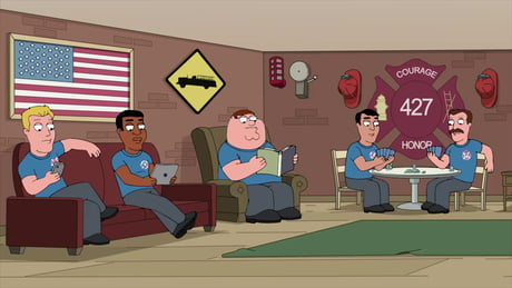 Peter Griffin becomes a fire fighter